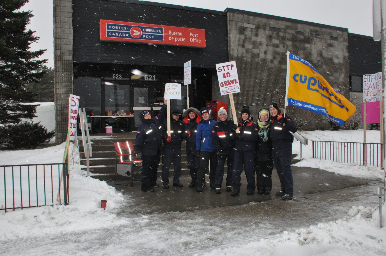 Le bureau de poste de Chibougamau est en grève