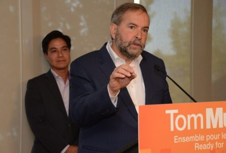 Mulcair rejetterait le Partenariat transpacifique