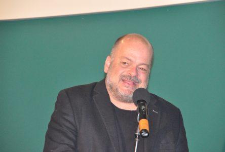 Sylvain Larocque de passage à Chibougamau
