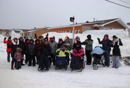 Les participants ont bravé le vent et le froid