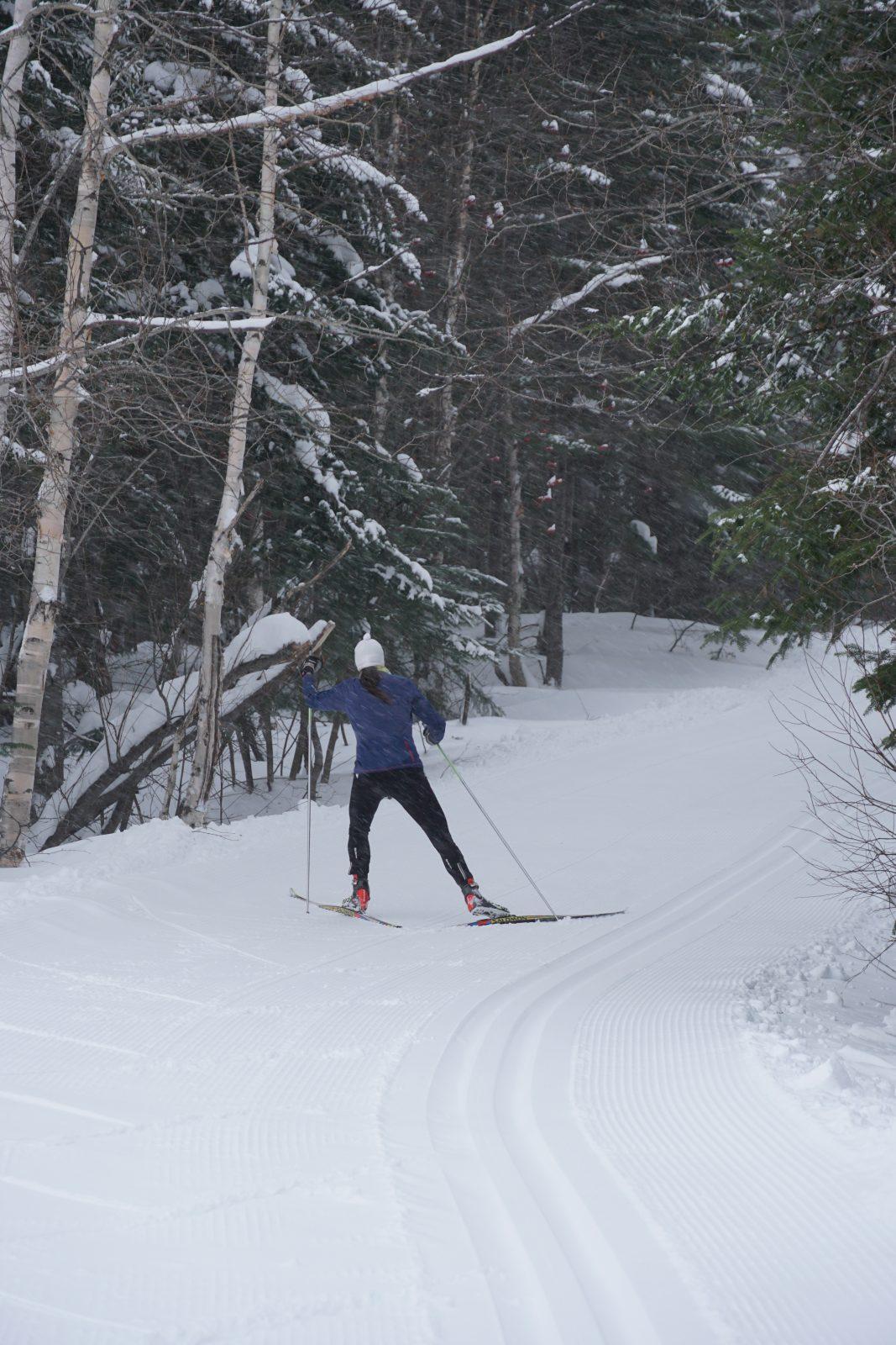 Le ski de fond accessible et patience pour les pentes
