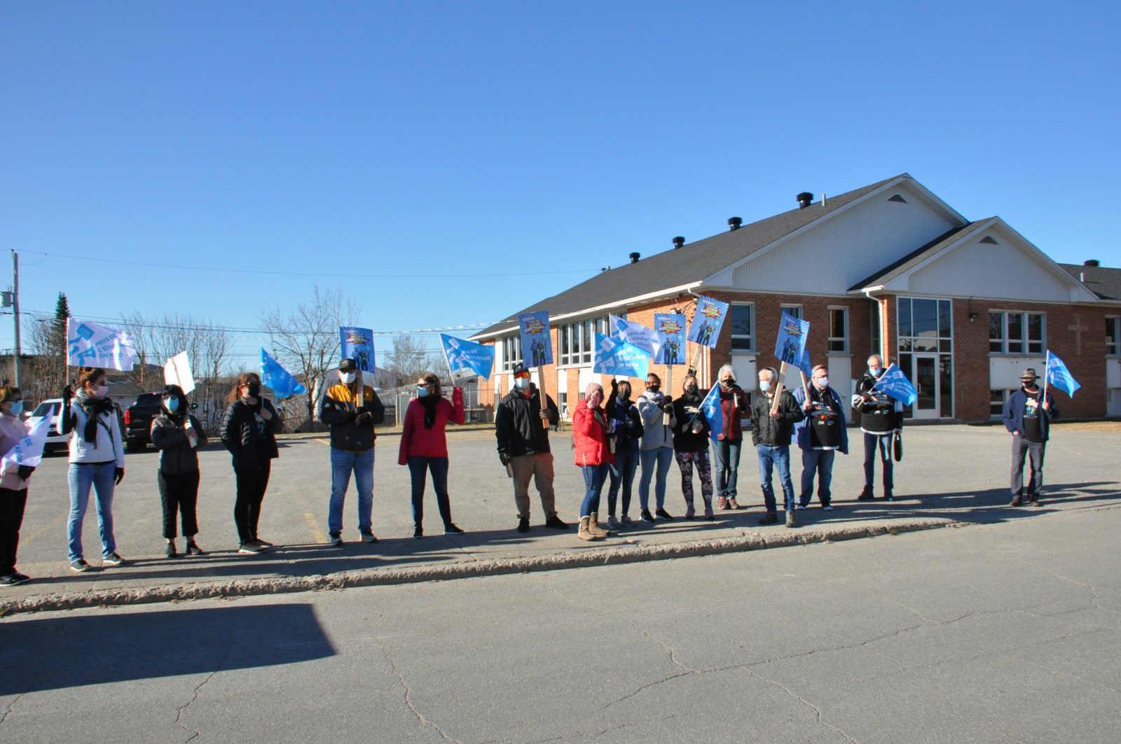 Les professionnels de l'éducation sont en grève