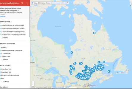 Une carte du tourisme québécois en économie sociale est lancée