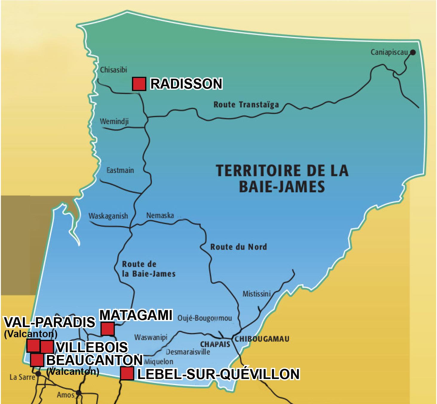 Vague d'acclamations sur le Nord-du-Québec